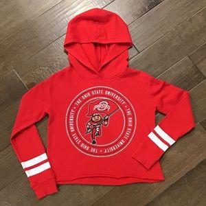 Justice OSU crop sweatshirt